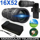 16x52 Phone Camera Zoom Lens Monocular Starscope HD Hiking Hunting Phone Holder