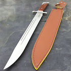 "18"" FULL TANG WOOD HANDLE SURVIVAL MACHETE Sword Combat Knife Medieval Hunting"