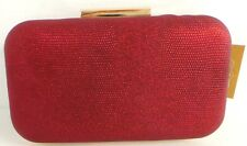 Madame Posh Red Clutch Bags With a Black Lustre