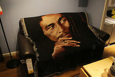 Marley tapestry woven blanket rugs throws Bob cotton decoration rock arts Reggae