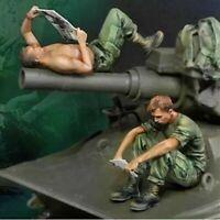 1/35 Resin Figure Model Kit Vietnam War US Soldiers Unpainted Unassembled Crew
