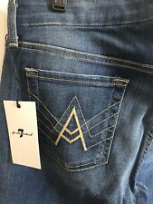 """NWT!  SEVEN FOR ALL MANKIND """"A"""" POCKET FLARE JEANS, Blue, Size 29 Short Inseam"""