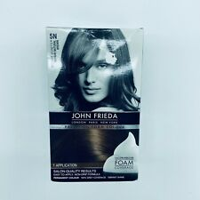 John Frieda Hair Color 5N Medium Natural Brown Precision Foam Colour New
