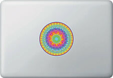 "CLR:MB - Mandala Rainbow Heart - Vinyl Macbook Laptop Decal ©YYDC (4"" dia.)"