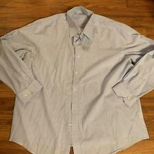 Pronto Uomo XXL Light Blue and White Striped Long Sleeve Button Up