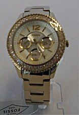 Fossil -  Ladies Stella Multi-Function Champagne Dial Watch - Gold-Tone- ES3589