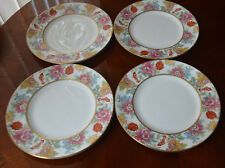Royal Worcester Chinese garden FOUR side plates 6.25 ins diameter