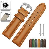 18mm Genuine Leather Watch Strap For FOSSIL Q Venture Gen 3 SmartWatch Band