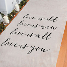 Love Is Aisle Runner - Party Decor - 1 Piece