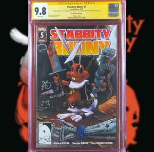 STABBITY BUNNY #5 BRAIN TRUST EDITION CGC 9.8 SS RICHARD RIVERA SKETCH