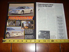 1994 FORD THUNDERBIRD PAXTON SN93 SUPERCHARGER - ORIGINAL 1995 ARTICLE