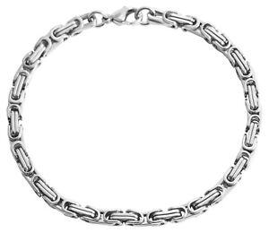Herren Armband Königskette Edelstahl Silber Armkette Männer Königsarmband 19cm