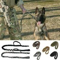Tactical Dog Leash Control Handle Police Military Training Army Elastic Bungee Q
