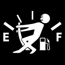 Funny Car Vinyl Sticker High Gas Consumption Decal Fuel Gage Empty White kk