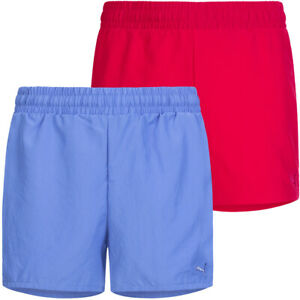 PUMA Fun TD Kinder Woven Freizeit Kurze Hose Fitness Shorts 832338 pink blau neu