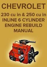 CHEVROLET 230 & 250 6 CYLINDER ENGINE WORKSHOP MANUAL