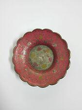 Antiguo Cenicero de Metal Dorado Estilo Arabe.