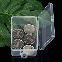 Tragbar Klein Kunststoff Aufbewahrungs Boxen mit Deckel Transparent Schmuck-de``
