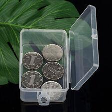 Tragbar Klein Kunststoff Aufbewahrungs Boxen mit Deckel Transparent Schmuck Box