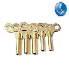 Clock Keys Mantle Clocks Numbers 5-6-7-8-9  5 Key Set Brass Free 1st Class Post