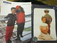 Patons knitting pattern no.711 Children's 1-4 knits 5- 8 ply & L652 jumpers 4-10