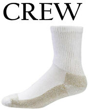 Aetrex Copper Sole Extra Cushion Non-Binding Crew Socks Men Women S2200M White