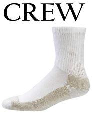 Aetrex Copper Sole Extra Cushion Non-Binding Crew Socks Men Women S2200M White
