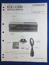 KENWOOD KDC-C300 CD CHANGER CAR AUDIO SERVICE MANUAL ORIGINAL FACTORY ISSUE