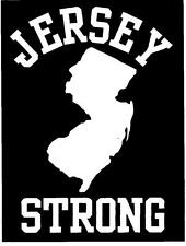 JERSEY STRONG vinyl decal #1