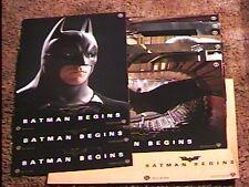 BATMAN BEGINS FRENCH LOBBY CARD SET 10 CHRISTIAN BALE
