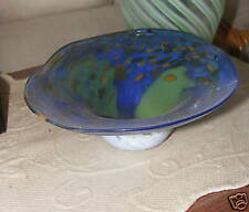"""SIGNED  HAND BLOWN DECORATIVE DISH  8"""" FROM BIOT FRANCE"""
