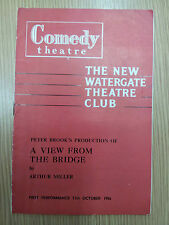 1956 The New Watergate Theatre: A VIEW FROM THE BRIDGE by Arthur Miller