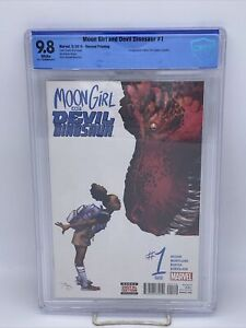 Moon Girl and Devil Dinosaur 1 9.8 CBCS 2nd PRINT Rare Low Print 1st Appearance