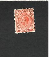 Falkland Islands SC #31 Postage Revenue One Penny  MH stamp