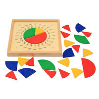 Learning Resources Wooden Fractions Circle Set