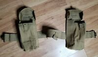 Vintage British pattern 37 mk III ammo pouches 1952 and 1953 dated belt