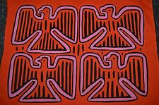 Traditional Reverse Appliqué Cloth Mola Panel Textile Sewn By Kuna Tribal Women