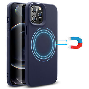 ESR Case for iPhone 12 Pro Max Mini, with Magnetic Ring, Liquid Silicone Cover