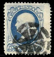 "Fancy Cancel ""Weiss TR-W7"" SON 1 Cent #156/182 Franklin Banknote 1870-79 US 2990"