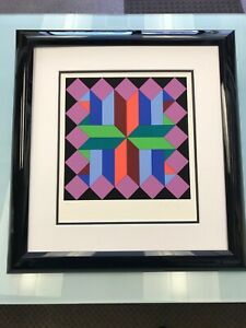 Victor Vasarely Serigraph Signed Numbered Limited Edition from the Helios Suite