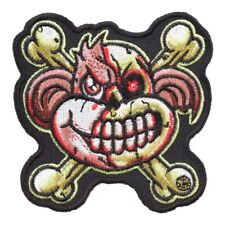 Zombie Monkey & Crossbones Patch, Fun Zombie Patches