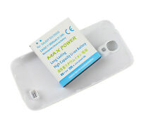 Extended Battery 5600mAh + White Back Cover Case For Samsung Galaxy S4 SIV i9500