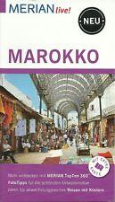 Reiseführer Marokko Rabat Tanger Fes + gr Faltkarte wie neu 128 S Merian live!
