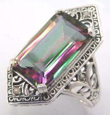 Anello mystic topazio perla argento 925 tgl 54 stile antico