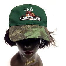 Buckmaster Camo & Green Cap Hat Adjustable By National Cap