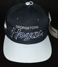 Vintage Sports Specialties Georgetown Hoyas Script Black Deadstock Wool Snapback