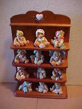 Cherished Teddies Months of the Year Set 13 Pieces  Enesco  Display Shelf 1993