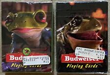 Budweiser Frogs 2 Packs of Collectible Playing Cards New Sealed Vintage 1996
