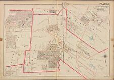 1913 G.W. BROMLEY, CRESSKILL DUMONT DEMAREST, BERGEN COUNTY NEW JERSEY ATLAS MAP