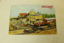 ESF-01082Faltblatt Vollmer Modelleisenbahnzubehör 1966/67, mit Gebrauchsspuren,